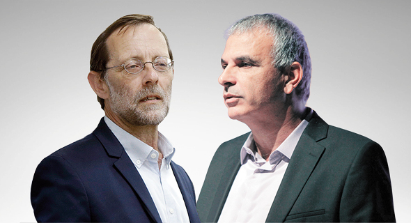 """מימין יו""""ר מפלגת כולנו משה כחלון ויו""""ר מפלגת זהות משה פייגלין, צילום: עמית שעל"""