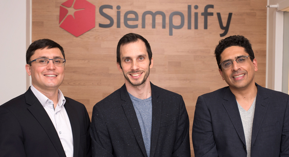 Siemplify's co-founders Alon Cohen, Amos Stern, and Garry Fatakhov. Photo:Siemplify