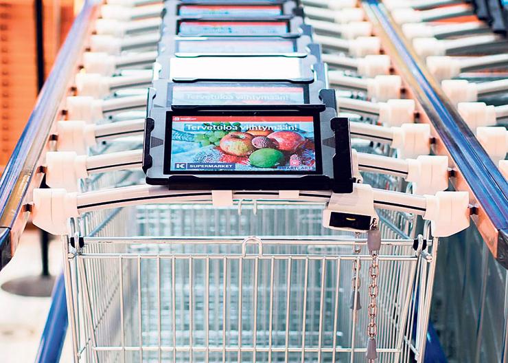 תנו לעגלה להוביל: העגלה החכמה של SmartCart מצליבה את מפת החנות עם רשימת הקניות שלכם ומייצרת מסלול ניווט נוח לאיסוף המוצרים הנחוצים
