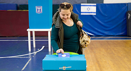 A woman voting in Israel