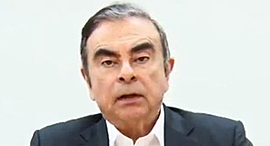 קרלוס גוהן לשעבר יותר רנו ניסאן מסיבת עיתונאים, צילום: איי פי