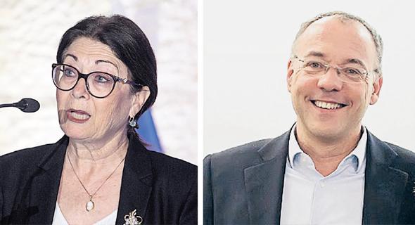 """תומר מוסקוביץ ראש רשות אכיפה וגבייה הוצל""""פ, ונשיאת העליון אסתר חיות"""