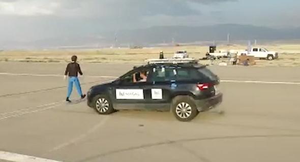 הרכב האוטונומי בניסוי