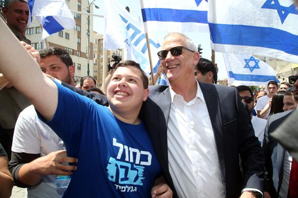 Blue and White leader Benny Gantz. Photo: Yariv Katz