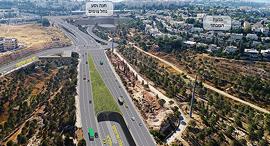 """הדמיית פרויקט המנהרות בגבעה הצרפתית זירת הנדל""""ן, הדמיה: צוות תוכנית אב לתחבורה ירושלים"""