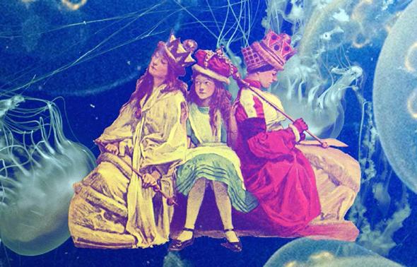 """כרזת """"ארץ הפלאות"""". תיאטרון, וידיאו ארט, הרצאה ותקלוט בהשראת אליס, צילום: אלעד אלחרר"""