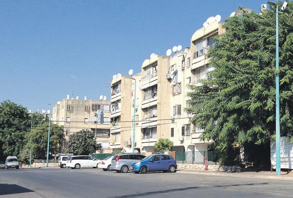 בניינים בשכונת רמת אשכול בלוד