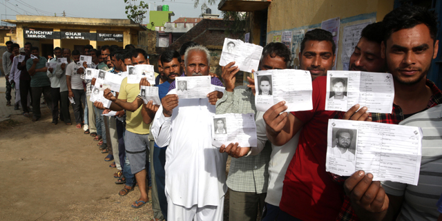 בחירות היום בהודו, צילום: אי פי איי