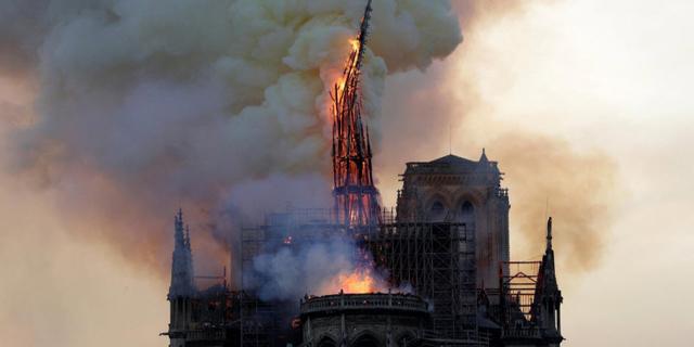 השריפה הגדולה בקתדרלת נוטרדאם, צילום: twiiter/ @choishines