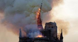 קריסת מגדל צריח קתדרלת נוטרדאם פריז, צילום: twiiter/ @choishines