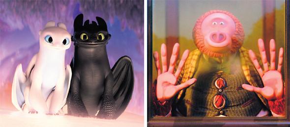 """מימין - """"מיסטר לינק"""". הנאה רב־דורית מובטחת; משמאל - """"הדרקון הראשון שלי 3"""". פריימים יפהפיים"""