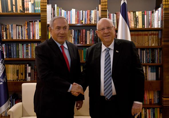 """נשיא המדינה ראובן ריבלין וראש הממשלה בנימין נתניהו, צילום: חיים צח, לע""""מ"""