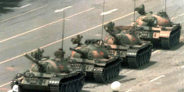 תמונת המחאה המפורסמת מאירועי כיכר טיאננמן, צילום: איי פי