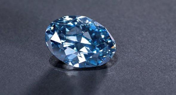 יהלום כחול מלוטש