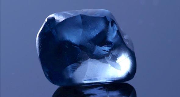 היהלום הכחול במצב גולמי