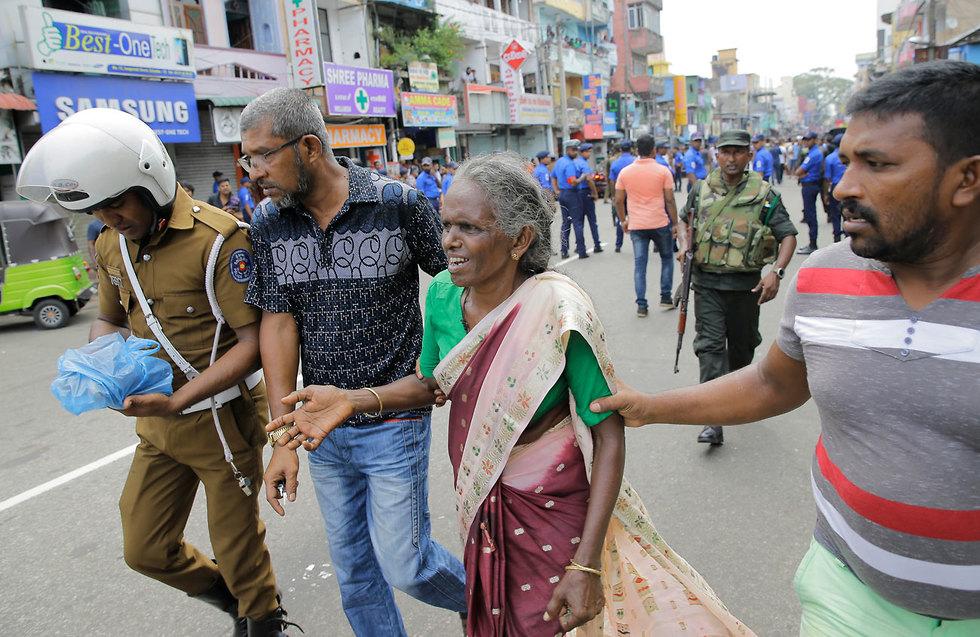 מתקפת טרור בסרי לנקה, צילום: AP