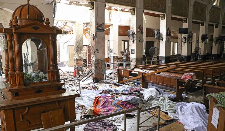 Terror attack in Sri Lanka, 2019. Photo: AFP