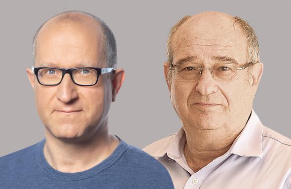 מימין נשיא הטכניון פרופ' פרץ לביא ופרופ' אלי בן ששון