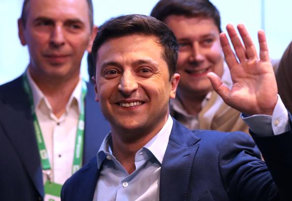 נשיא אוקראינה ולדימיר זלנסקי (ארכיון)