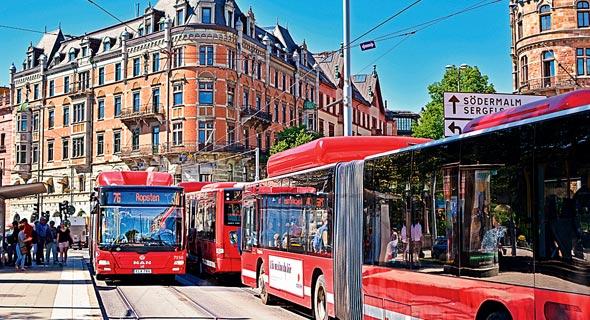אוטובוס תחבורה ציבורית סטוקהולם שוודיה