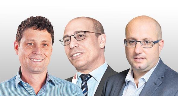 מימין: תמיר כהן, אייל לפידות וגל סטאל