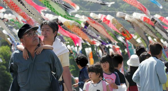 מקומיים בחופשה. יפן