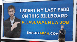 שילוט חוצות מחפשי עבודה, צילום: Employ Adam