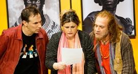 קורן (משמאל) לצד עירית קפלן ודביר בנדק, צילום: רדי רובינשטיין