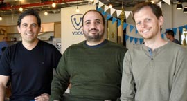 VDOO founders Netanel Davidi (left), Asaf Karas, Uri Alter. Photo: VDOO