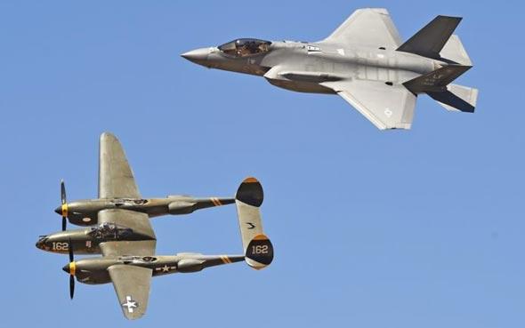 זה שהיה וזה שהינו: P38 לצד F35