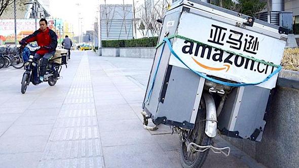 שליח אמזון בסין. הסחר המקוון העמיס על הדואר, צילום: Digital Commerce 360