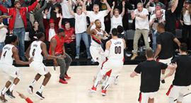 דמיאן לילארד פורטלנד טריילבלייזרס NBA פלייאוף זריקת ניצחון, צילום: רויטרס