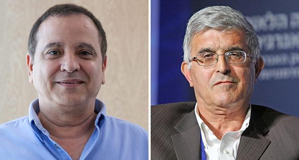 מימין יוסי לוי מנכל שמן ואיש העסקים קובי מימון, צילום: עמית שעל, אוראל כהן