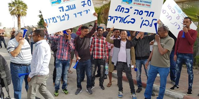 הפגנת עובדי חרסה, צילום: באדיבות אגף הדוברות בהסתדרות