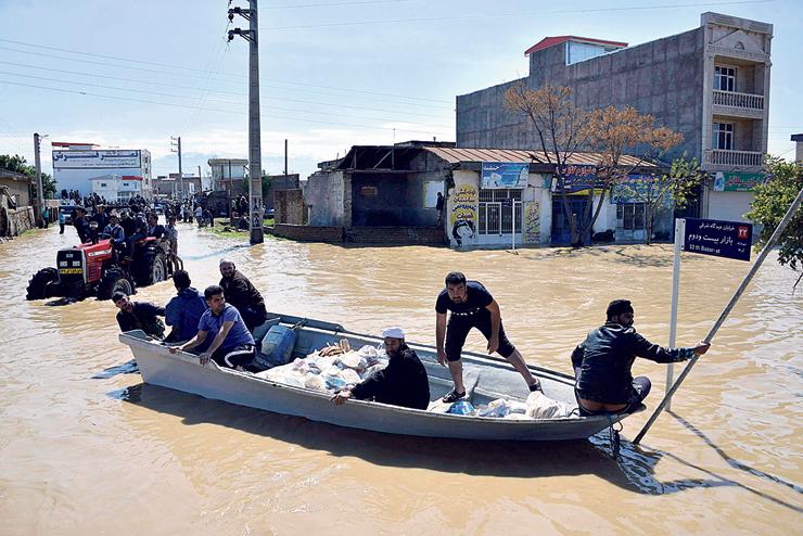 שיטפונות בצפון איראן, החודש. קודם כל מדובר בבעיה של ניהול משק המים