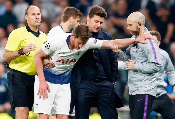 מאמן טוטנהאם פוטצ'ינו תומך בורטונגן לאחר הפציעה