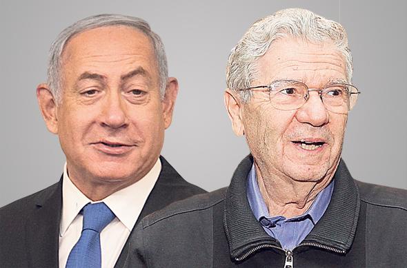 מימין נשיא העליון בדימוס אהרן ברק וראש הממשלה בנימין נתניהו, צילומים: אוראל כהן, אוהד צויגנברג