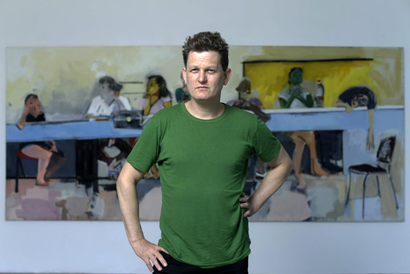 """גולד והציור המרכזי ב""""ועדת קבלה"""". """"בעולם האמנות יש הרבה השפלות"""""""