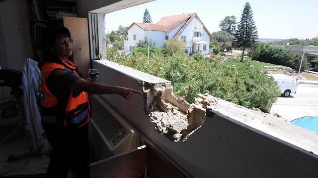 בית שנפגע בעוטף עזה, צילום: אבי רוקח