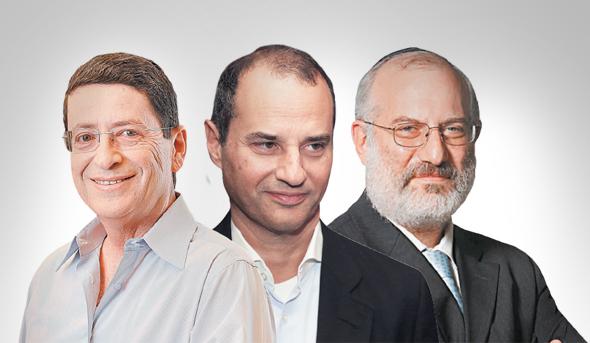 מימין: אדוארדו אלשטיין, יקיר גבאי ומורי ארקין