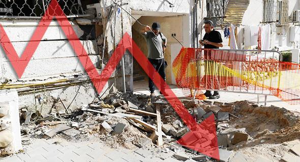 ירי רקטות על אשקלון חמאס עזה גרף יורד, צילום: AFP