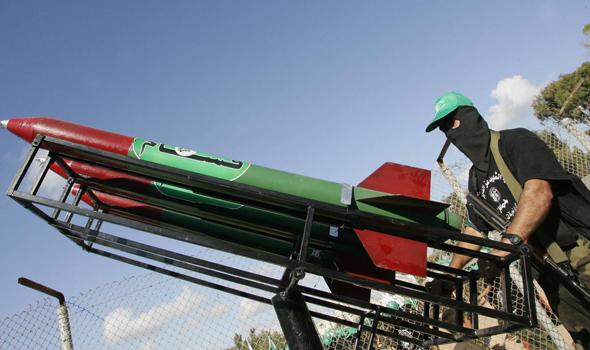 רקטה רקטות קסאם חמאס עזה , צילום: איי אף פי