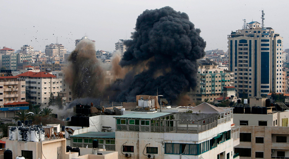 Israeli strikes in Gaza. Photo: AFP