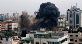 Israeli strikes in Gaza. Photo: AFP