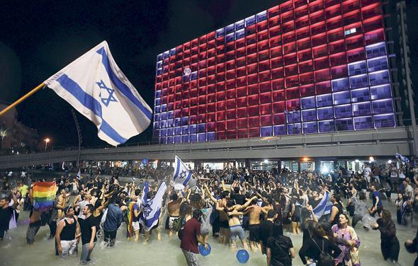 """חגיגות בכיכר רבין אחרי זכיית """"Toy"""" בשנה שעברה, צילום: יובל חן"""
