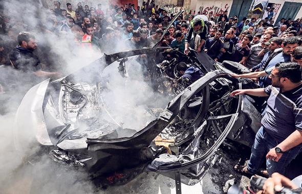 הרכב שבו חוסל חאמד אחמד אלחודארי, צילום: איי אף פי