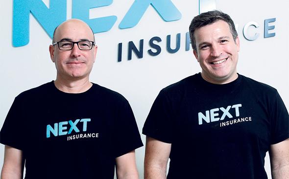 Next Insurance founders Nissim Tapiro and Alon Huri. Photo: Amit Sha'al