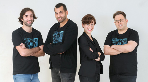 Bonobo's founders Ohad Hen (left), Idan Tsitiat, Efrat Rapoport, Barak Goldstein. Photo: Nitzan Gur