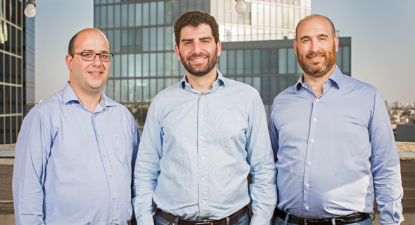 QEDIT's founders Aviv Zohar (left), Jonathan Rouach, and Ruben Arnold. Photo: Ronen Goldman