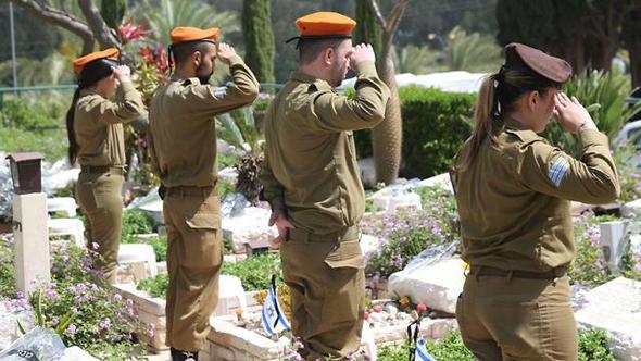 טקס בבית העלמין הצבאי קריית שאול, צילום: מוטי קמחי